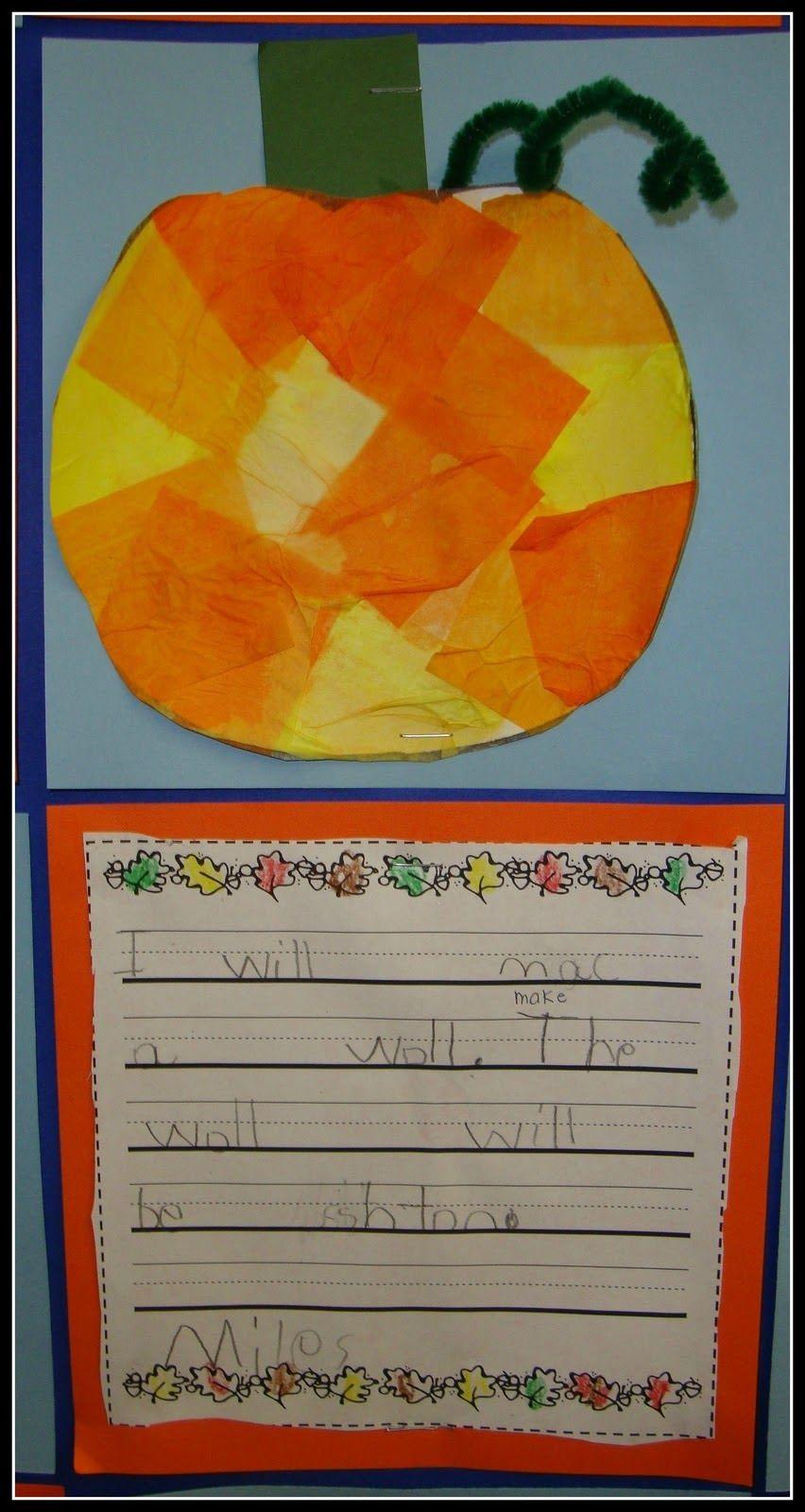 Spookly the Square Pumpkin literature response activity ...