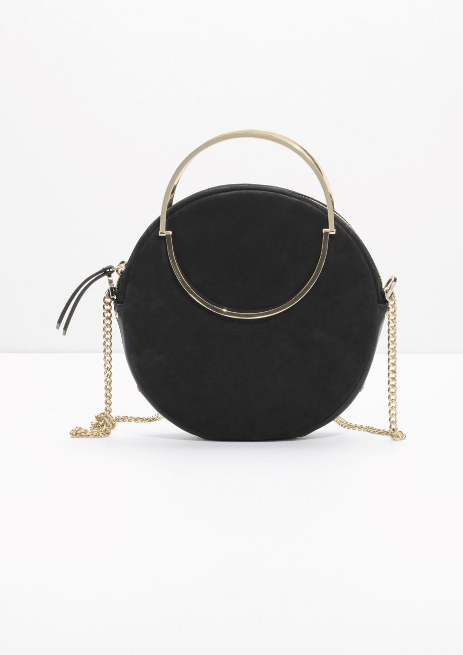 a1234e51b62b   Other Stories image 1 of Small Leather Circle Bag in Black