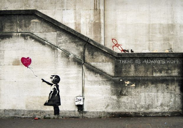 Bansky... Watched a documentary about him... AWESOME!!!!