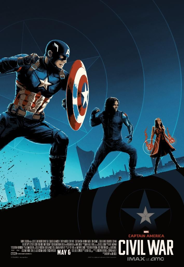 IMAX AMC Theaters Reveal Collectible Captain America Civil War Posters