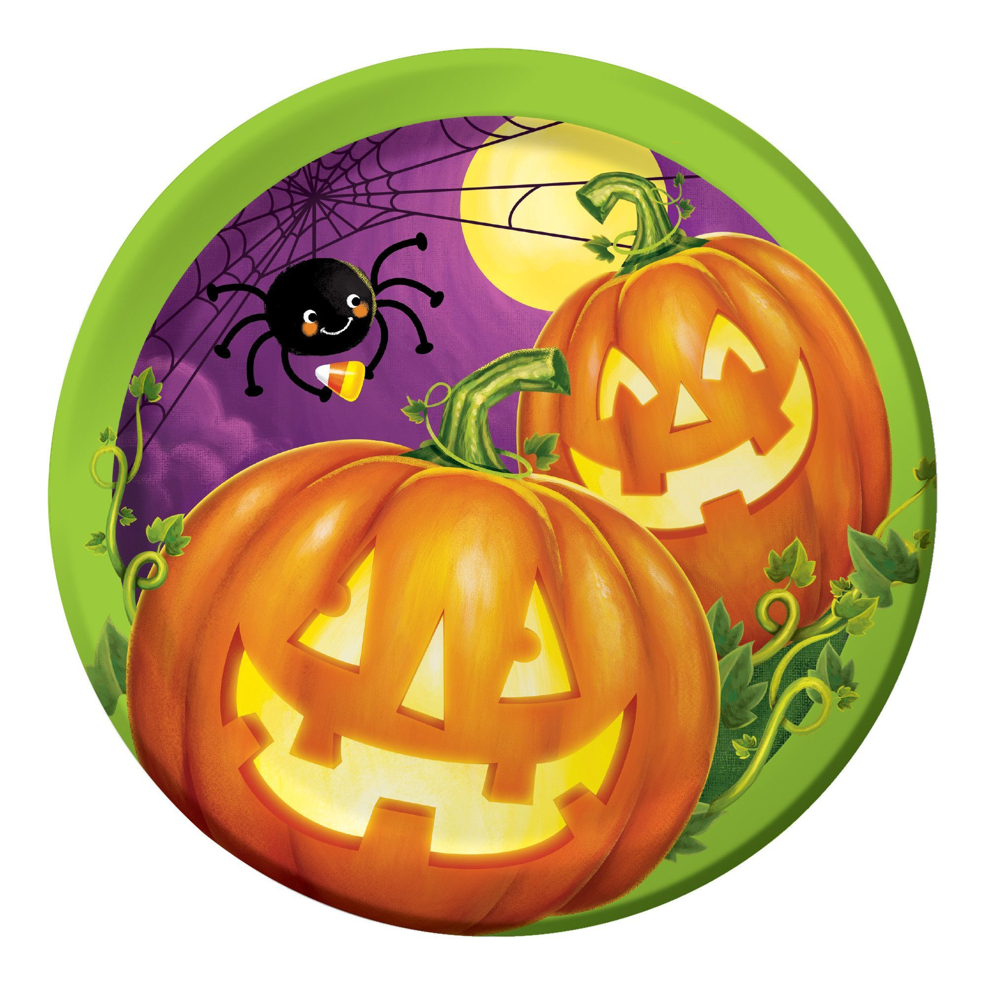 Pumpkin Patch 7 Inch Lunch Plates/Case of 96
