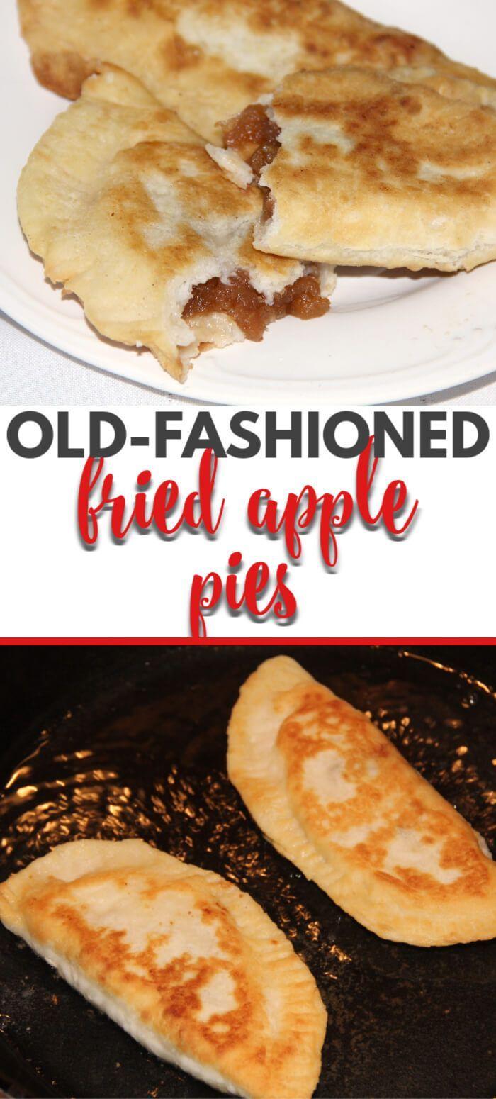 Fried apple pies like Granny used to make. Sweet apple filling inside tender fri... - Southern Food