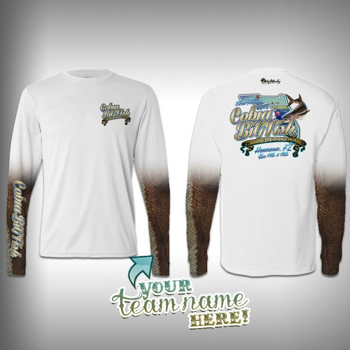 Cobia big fish tournament team shirt unisex surfmonkey for Fishing team shirts