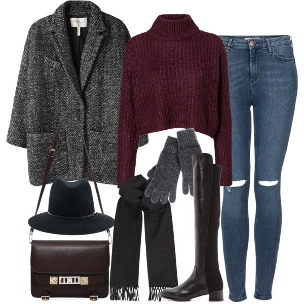 """""""inspired outfit with ripped jeans"""" by whathayleywore on Polyvore"""