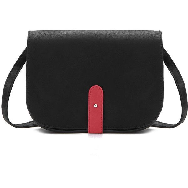 Yoins Black Hidden Pocket Across Body Bag 23 Liked On Polyvore Featuring Bags