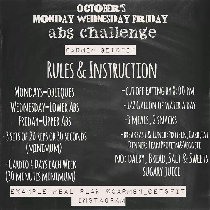 October ab challenge