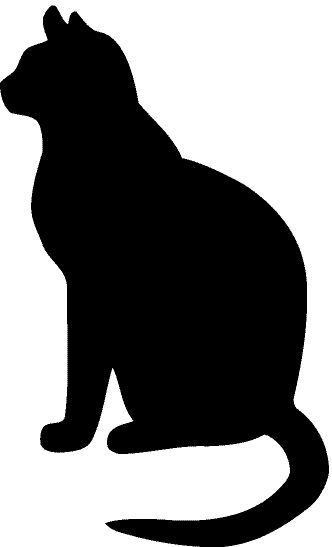 4 CAT SILHOUETTE   stickers  decal window car home