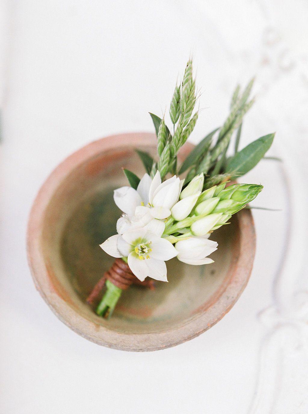 White And Simple Boutonniere Galium Grasses Seasonal Spring