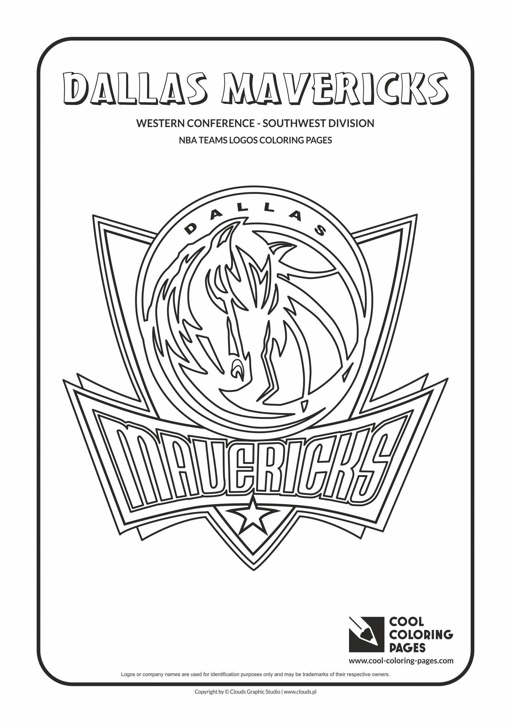 Dallas Mavericks Nba Basketball Teams Logos Coloring Pages Nba