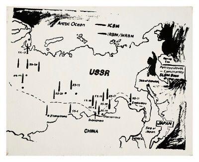Warhol  Map of Eastern USSR Missile Bases, c.1985