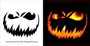 pumpkin template scary face  Scary face pumpkin carving in 5 | Halloween pumpkin ...