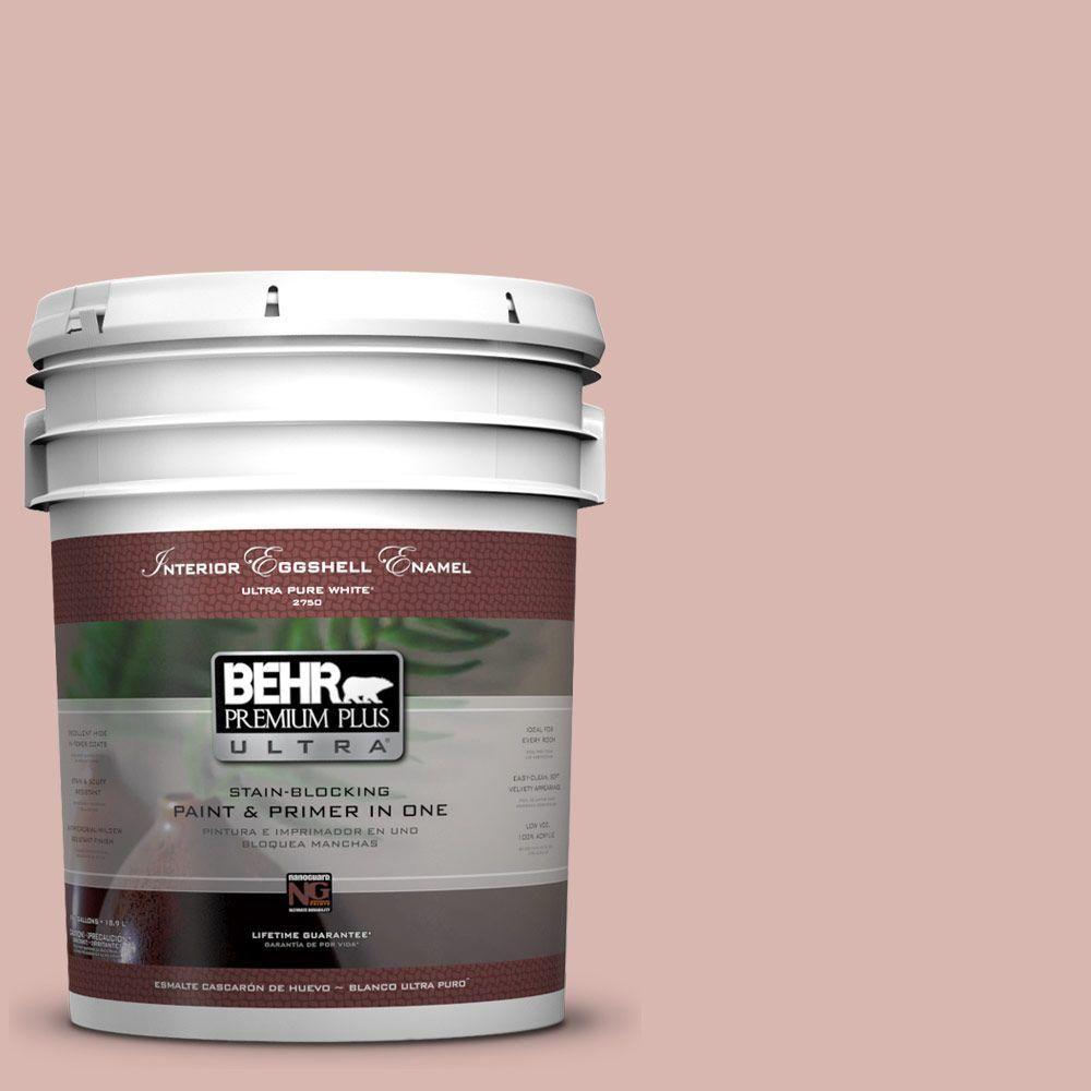 BEHR Premium Plus Ultra 5-gal. #170E-3 Bridal Rose Eggshell Enamel Interior Paint