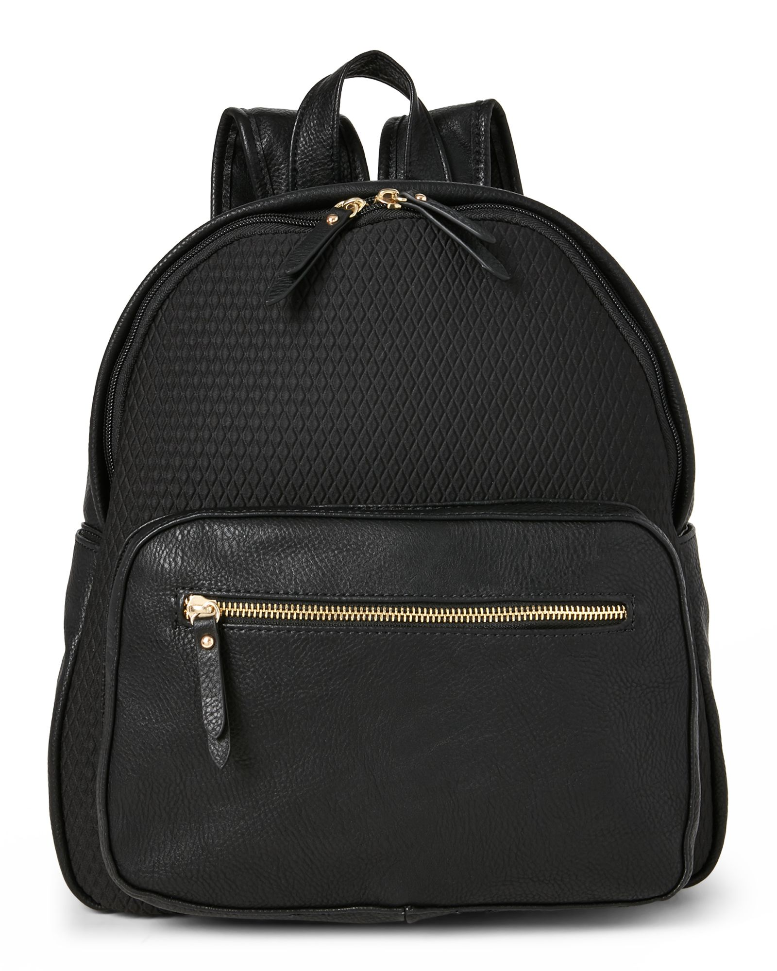 Poverty Flats Black Embossed Neoprene Sport Backpack