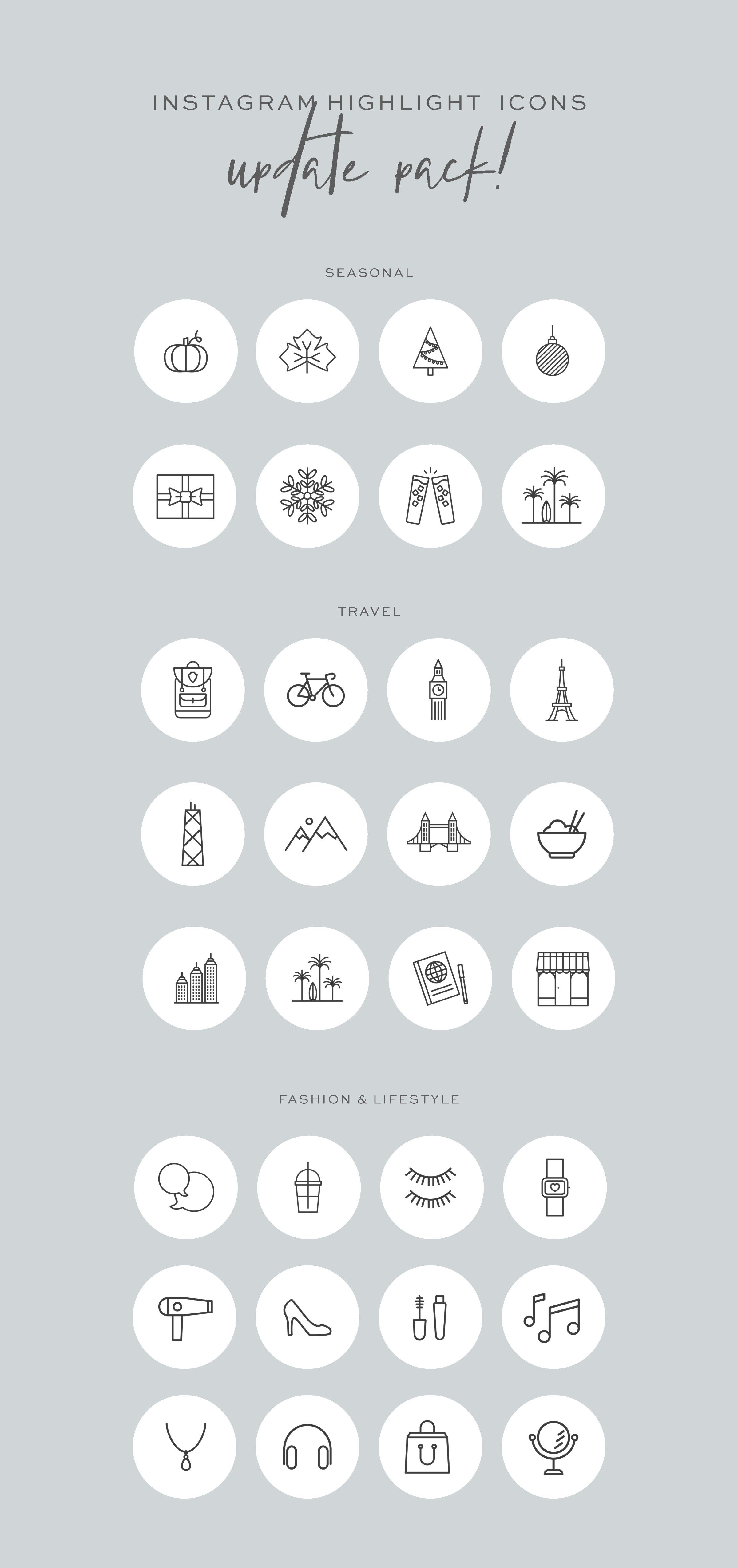 Instagram Highlight Cover Icons - Master Pack