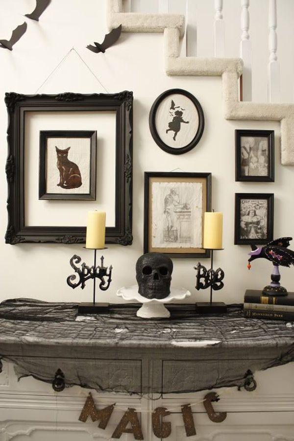 vintage halloween table ideas vintage decor ideas picture frames - vintage halloween decorating ideas