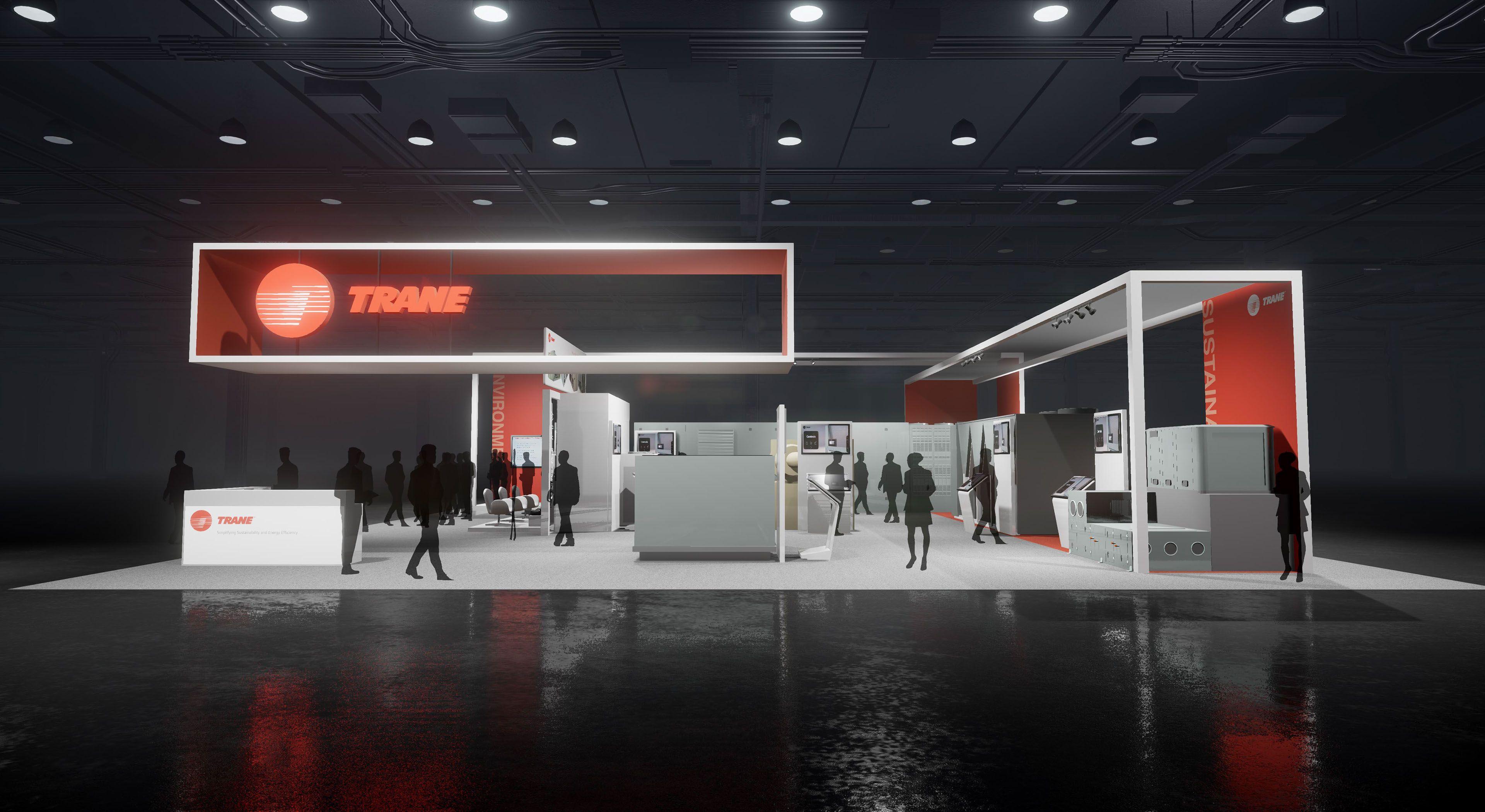 Exhibition Booth Header : Trane exhibit design on behance temporary exhibition
