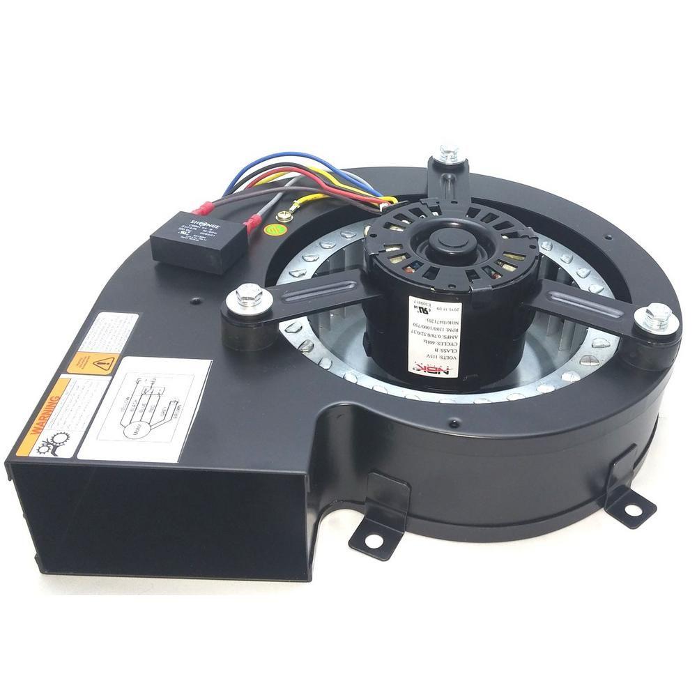 Nbk Motors 115 Volt Draft Inducer Blower Motor Variable Speed Motor Home Depot Fireplace Blower
