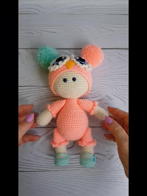 Crochet Amigurumi Doll Little Princess Sally Pattern (PDF in English)  #amigurumidoll   #handmadedolls  #crochetdolls