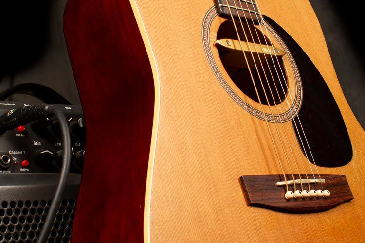 Get Heard A Guide To Acoustic Guitar Pickups And Amplification Acoustic Guitar Pickups Guitar Pickups Learn Acoustic Guitar