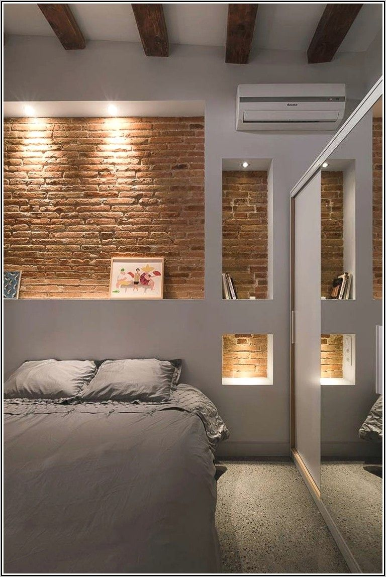 Deco Chambre A Coucher Moderne Avec Niche En 2020 Deco Chambre