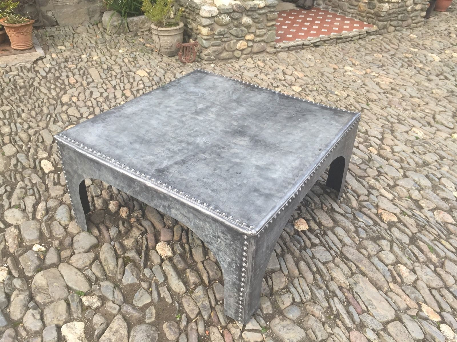 Upcycled Industrial Galvanised Water Tank Coffee Table | Galvanized ...