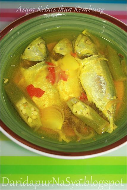 Asam Rebus Ikan Kembung Rebusan Ikan Dapur