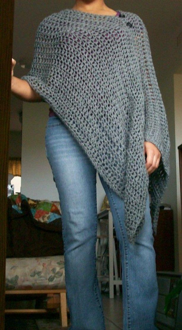 Httpwwwravelrypatternslibrarycustomizablecrochetponcho Best Crochet Poncho Pattern Ravelry