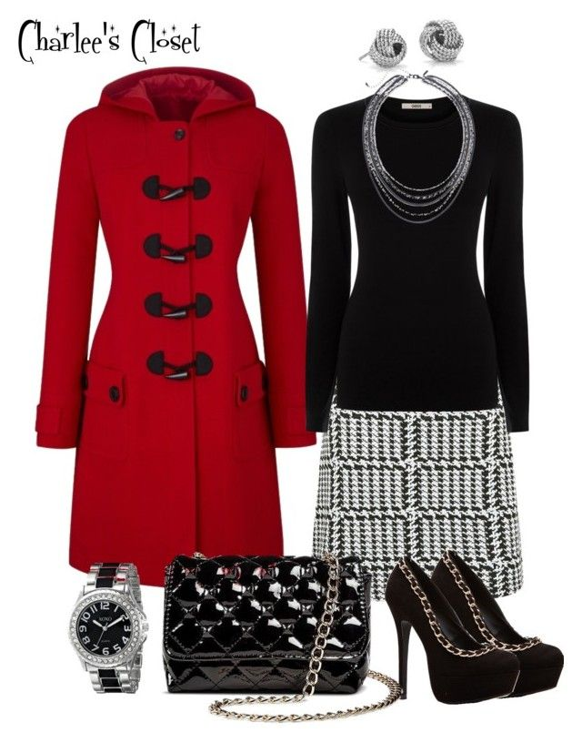 Black, White and Red by charlotte-lewis-williams on Polyvore featuring polyvore, fashion, style, Oasis, Betseyville, Blue Nile, Lane Bryant and XOXO