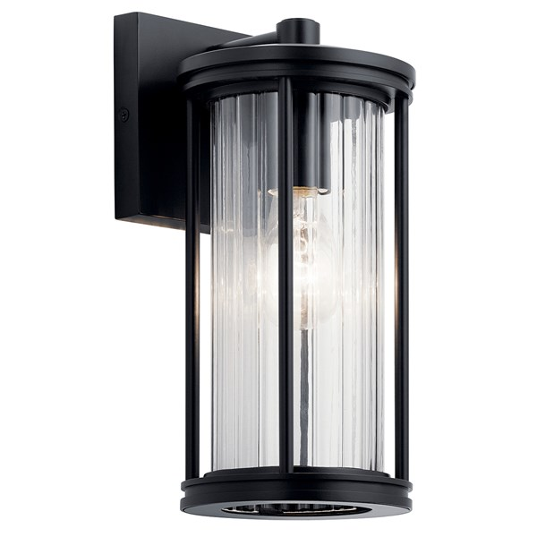 Barras 11 5 1 Light Outdoor Wall Light With Clear Ribbed Glass Black Kichler Lighting In 2020 Outdoor Wall Lighting Outdoor Wall Lantern Outdoor Sconces
