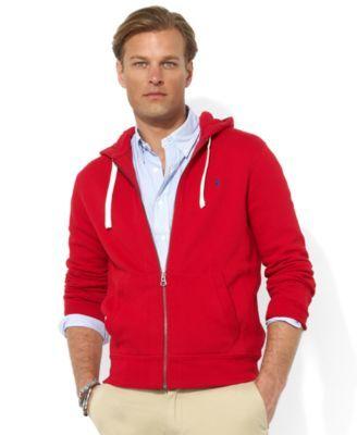 Polo Ralph Lauren Hoodie, Core Full Zip Hooded Fleece | macys.com