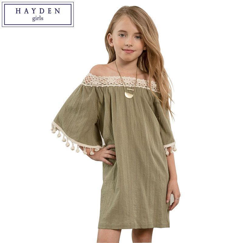 9c586638902 HAYDEN 11 Years Girls Clothes Teenagers Dresses 12 14 Years Girls Clothing Teenage  Girl Dress 13