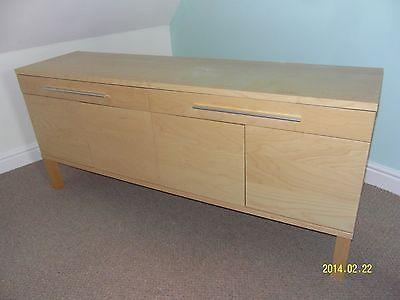Ikea Bjursta Credenza : Ikea bjursta light oak veneer sideboard new house