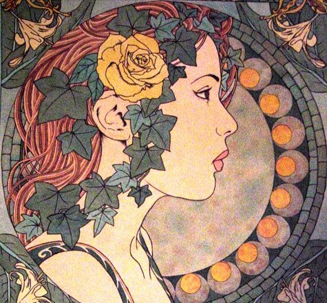 Art nouveau flower stalks and buds vines wings and leaves an art nouveau flower stalks and buds vines wings and leaves an organic world map gumiabroncs Images