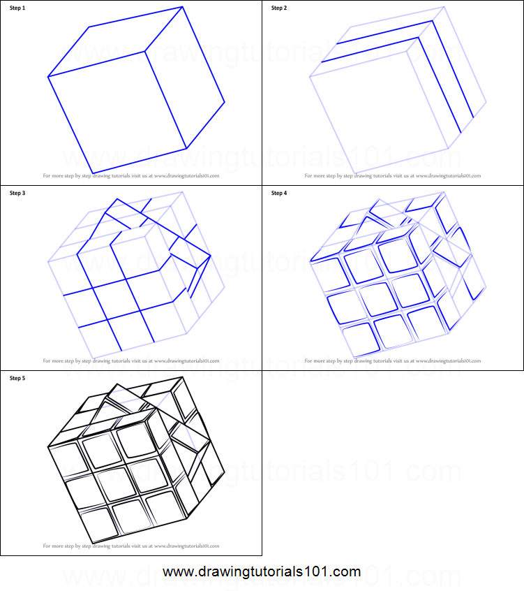 How To Draw Rubik S Cube Printable Step By Step Drawing Sheet Drawingtutorials101 Com Art Drawings Sketches Simple Art Drawings Simple Drawing Sheet