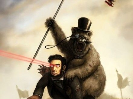 Teddy Roosevelt Riding A Bear