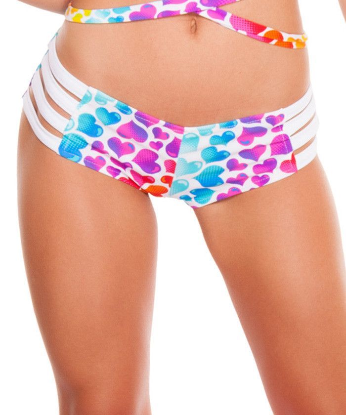 The queen of hearts has nothing on these Rainbow Heart High Waist Strappy Shorts. The coverage of high waist with a sexy banded side will keeps it fun and flirty! Going out after the rave? Throw a ska