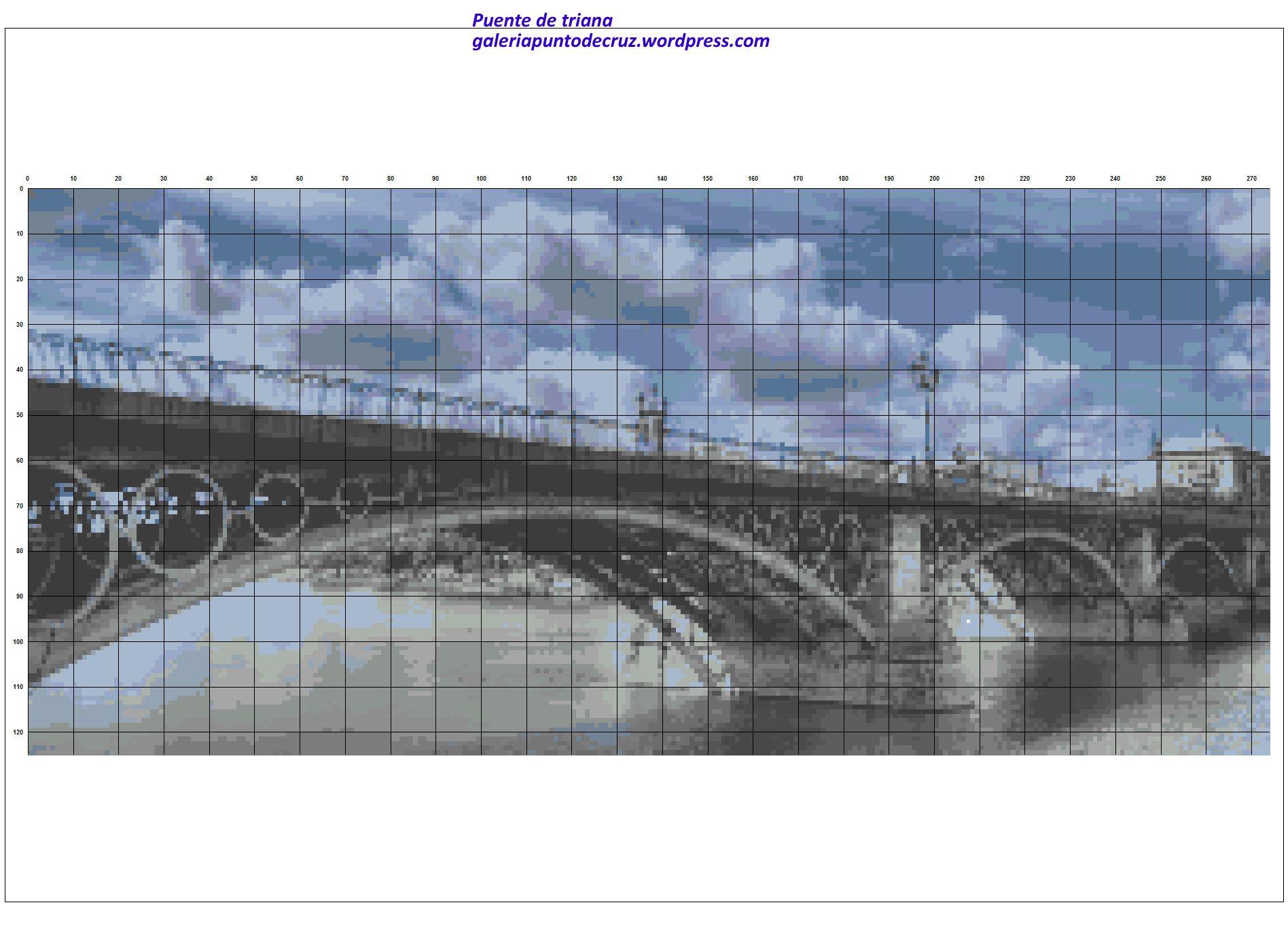 Puente de triana a punto de cruz   Pinterest   Puentes, Punto de ...