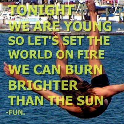 WE ARE YOUNG  FUN.   LYRICS #FUN #WEAREYOUNG
