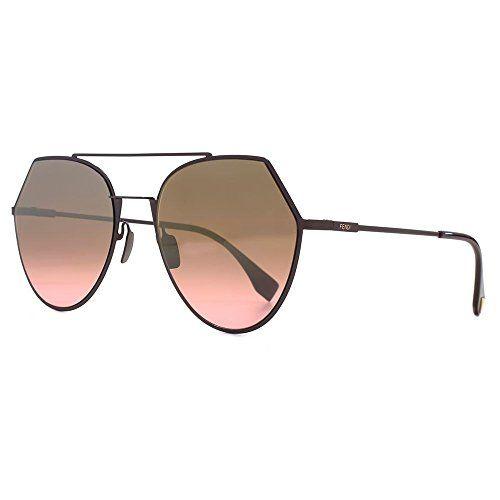 d13ea3fe59738 Fendi FF0194 S 0T7 Plum FF0194 S Round Sunglasses Lens Category 2 Lens  Mirrored