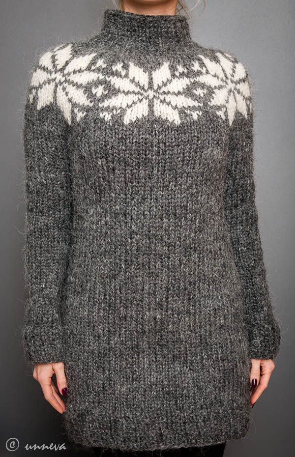Icelandic Lopi Sweater, via Etsy. Looks like a nice top down ...