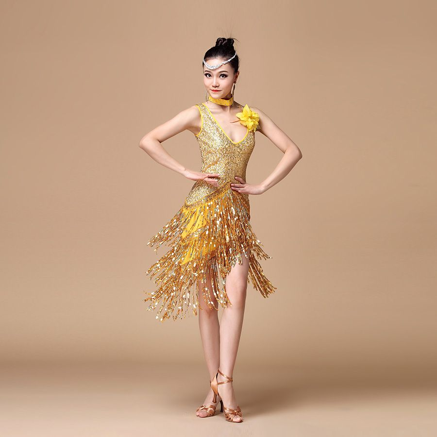 c86fb11a8e9c Women One-piece Latin Dance Dress Ballroom Dance Competition Dresses Samba  Costume