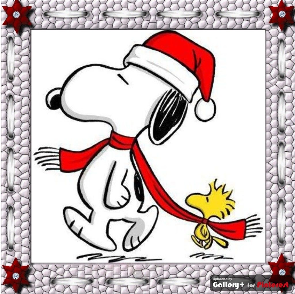 snoopy and woodstock winter red scarf [ 1024 x 1019 Pixel ]