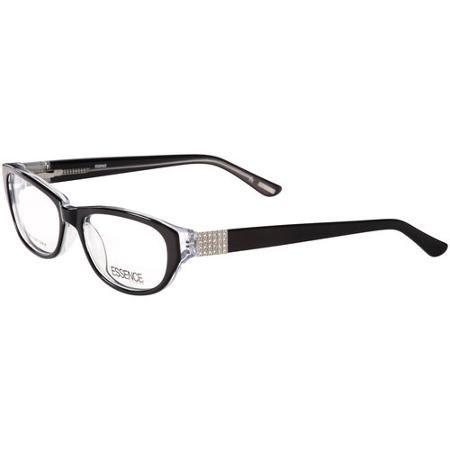Essence Khloe Women\'s Eyeglass Frames, Black/Crystal at Walmart ...