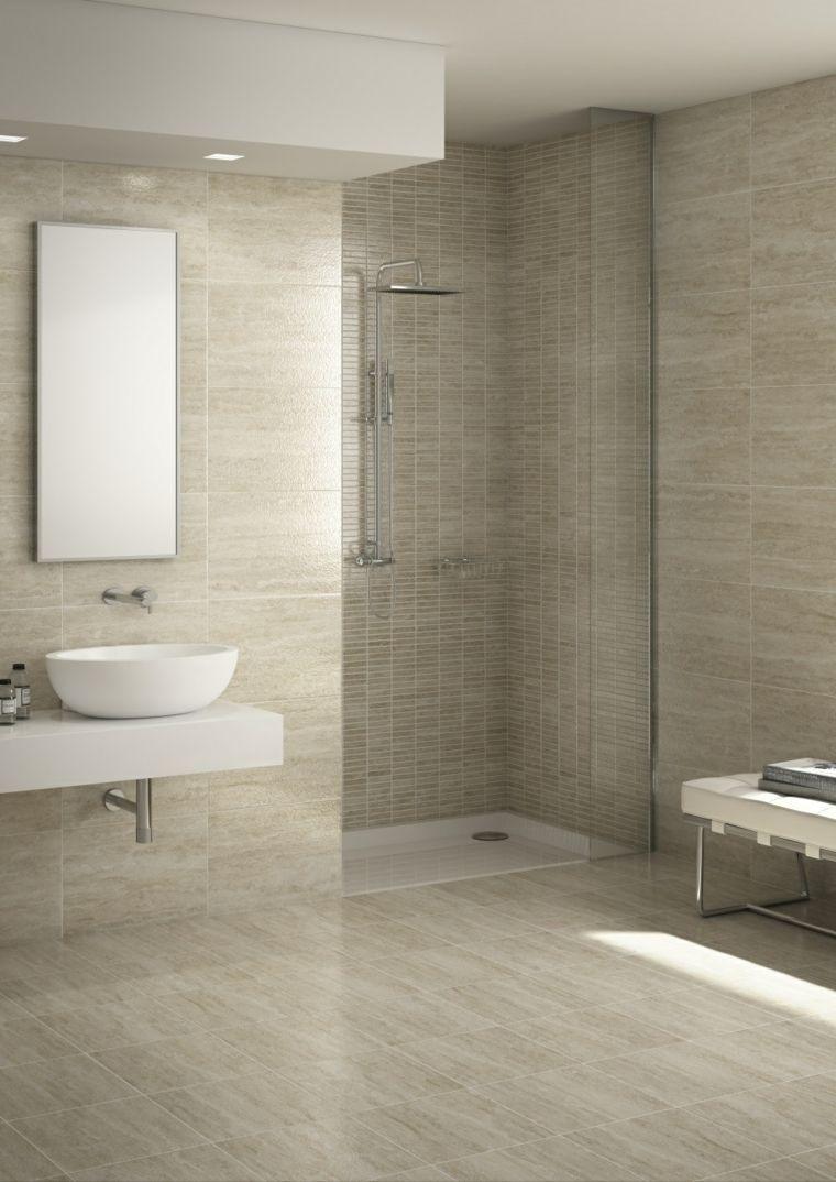 Salle de bain travertin : la beauté de la pierre de Tivoli | Déco ...