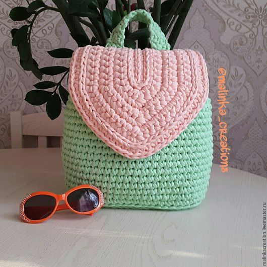 be3d9e297c01 Стильный вязаный рюкзак Beauty Backpack от Malinka_Creations Вязаные Сумки,  Рюкзак Кошелек, Вязать Крючком,