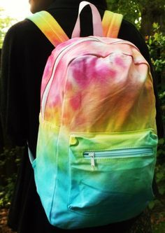 Tie Dye Backpack. Im Totally Going To Buy A White Backpack And Do This!