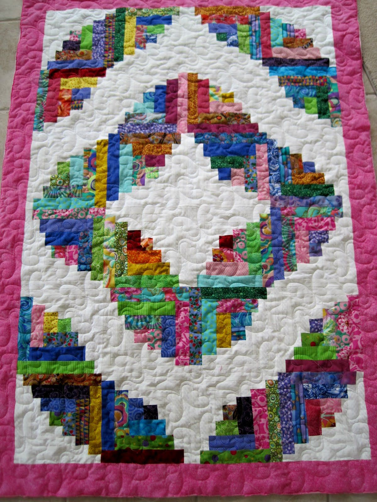 Curved Log Cabin Quilts Google Search Log Cabin Quilt
