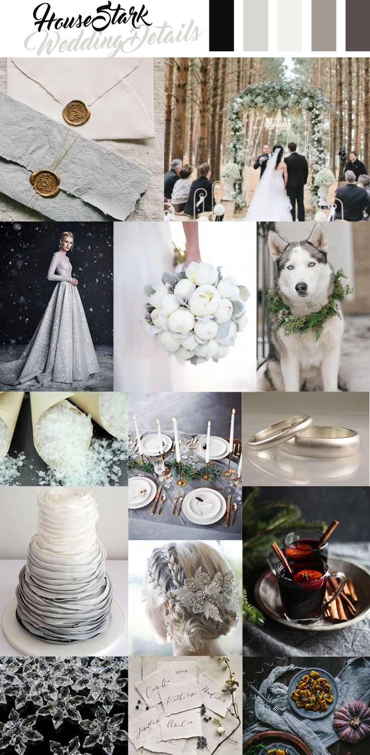 House Stark Wedding Inspiration, Game of Thrones  Game of thrones