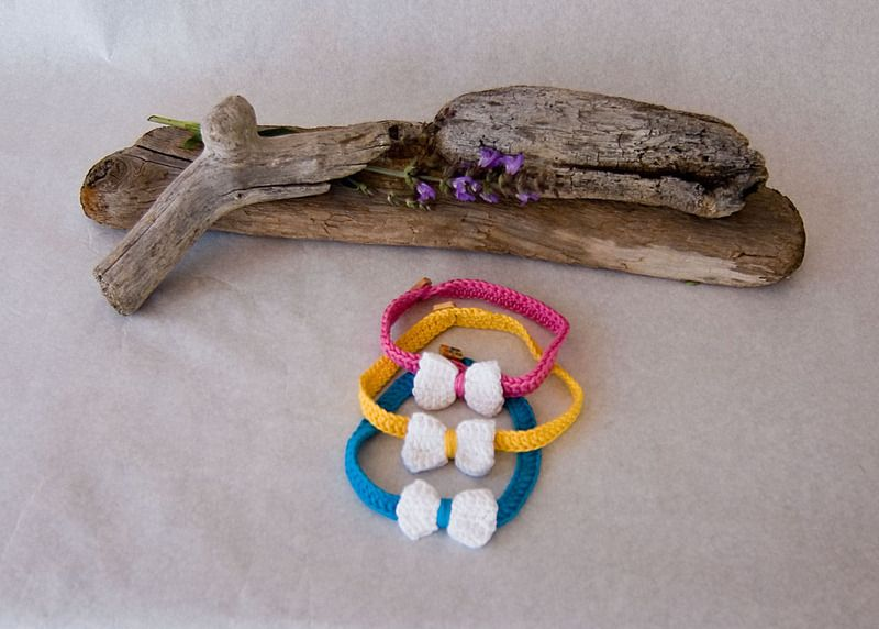 Cintas para el pelo - Cinta con lazo crochet - hecho a mano por totaPunt en DaWanda