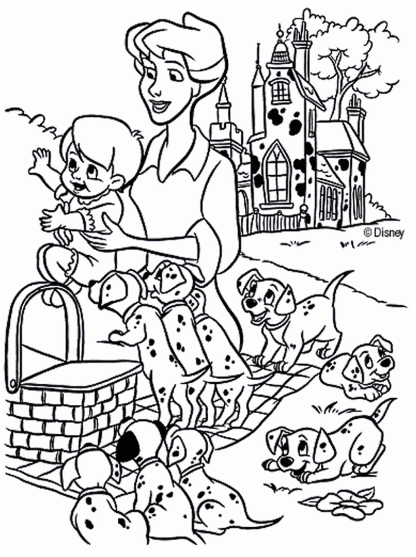 102 Dalmatians coloring page | Coloring pages and Printables ...
